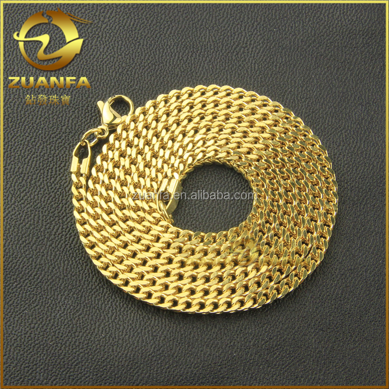 best selling cuban men link chain long necklace gold neck chain designs