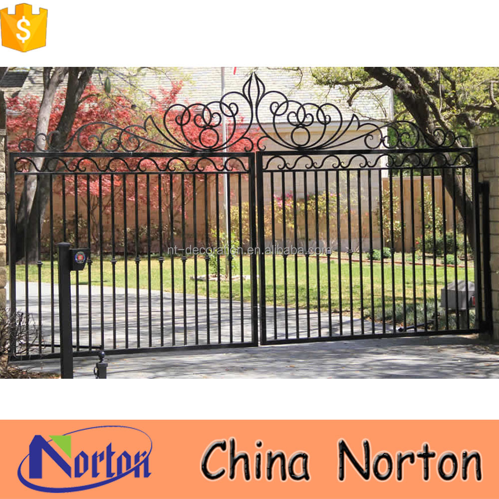 western style simple wrought iron gate grill design NTIRG-366X
