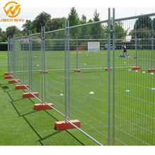 Galvanized Flat Panel Temporary Fence With Square Post