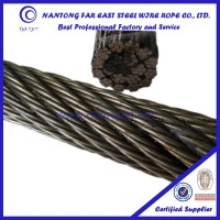 18*7 ungalvanized steel wire rope price raw material elevator lift
