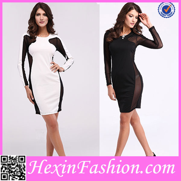 wholesale long sleeve pictures of fashion night dresses