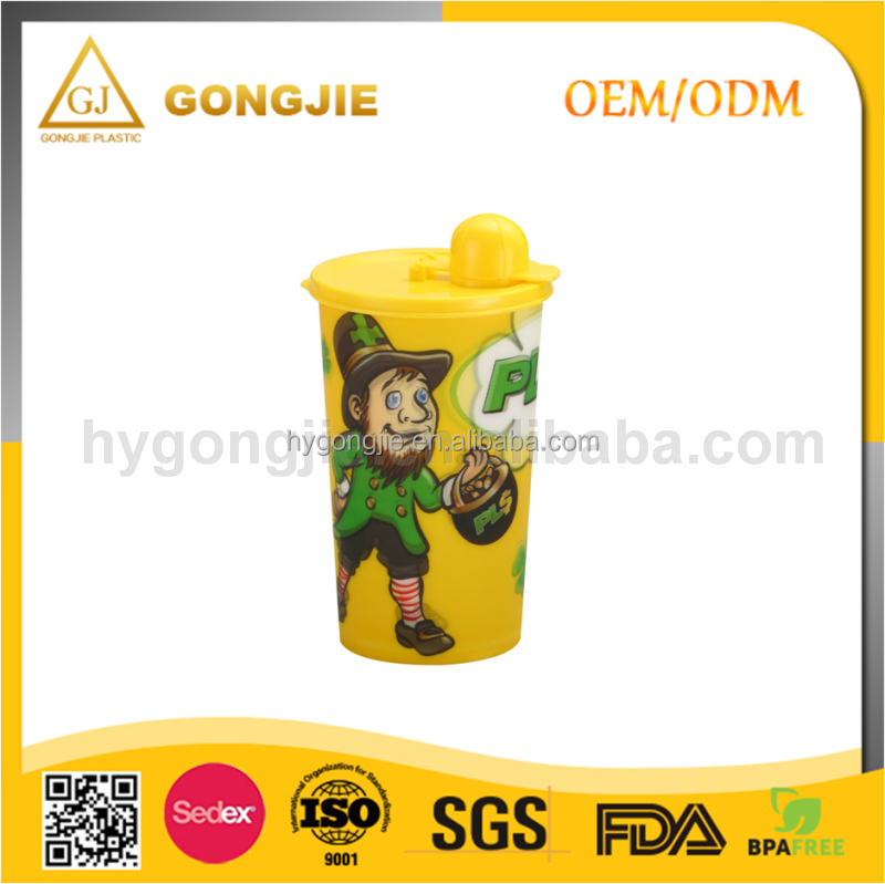 450ml kids eco-friendly Plastic Cartoon Outdoor Cup