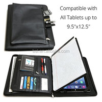 "Universal Business Leather Portfolio for all tablets up to 9.5""x12.5"" iPad Pro 1 2 3 4 Air Mini,"