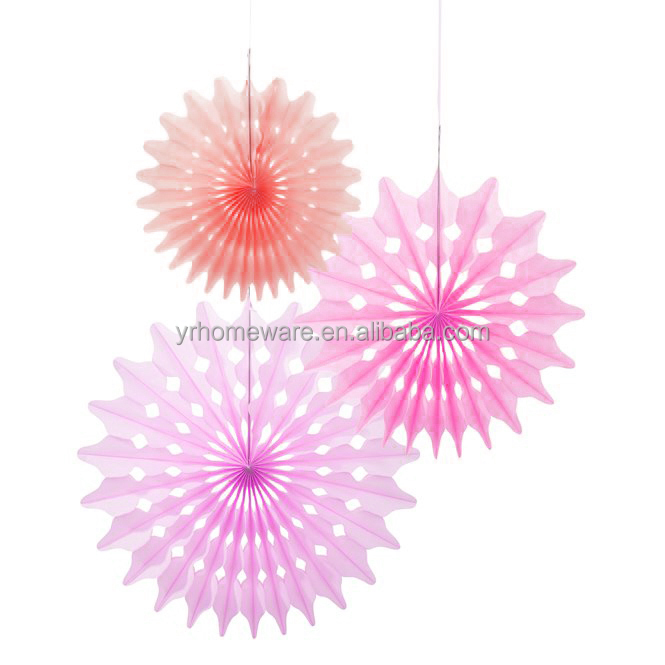 Tissue Paper Fan For Wedding Happy Birthday Nursery Party Decorations