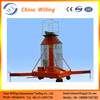 Double-ladder series mast lift/telescopic hydraulic ladder/electric ladder lift WLS-16