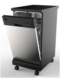 110V 60HZ Freestanding Stainless Steel Portable Dishwasher