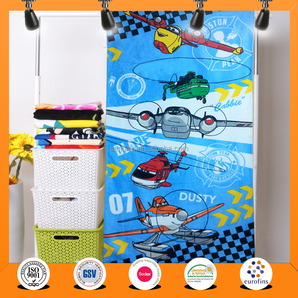China low price High quality 100% cotton magic beach towel