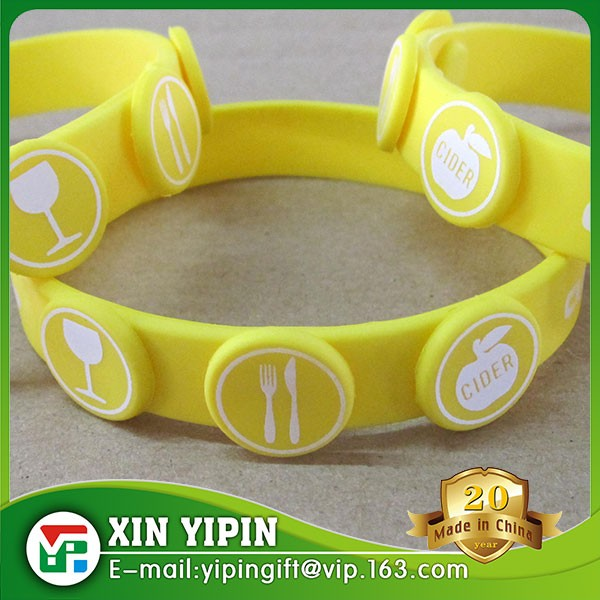 Custom glowing in dark silicone rubber bracelet wristbands for Events