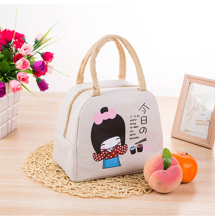 Outdoor children promotional wholesale Janpan style cooler lunch bag for kids