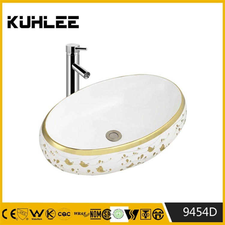 Bathroom Galvanizing silver wash hand basin KL9454D-9459D