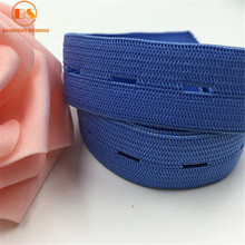 Rich Color Button Hole Elastic Band For Sweater