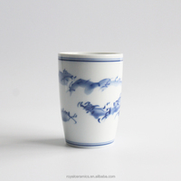 2016 new products office or home use Chinese culture style Blue and White Porcelain pen holder