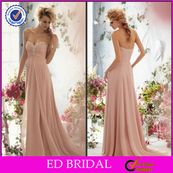 New Fashion Style Strapless Sweetheart Pleated Beaded Online Prom Dress Shopping
