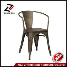 Wholesale Restaurant Furniture Joveco Dark Bronze Curve Back Style Metal Stackable Dining Chair