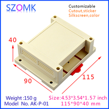 115*90*40mm Plastic Din rail enclosures for junction housing case for electronics PCB