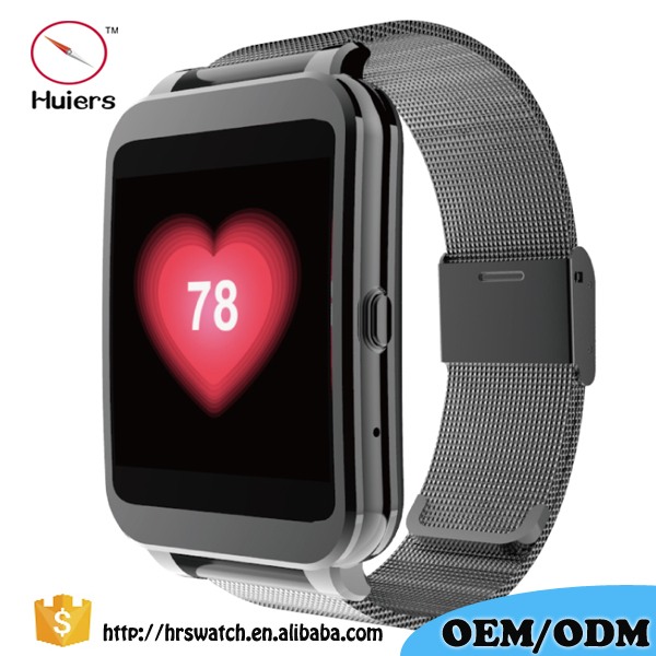 "2016 smart watch bluetooth 1.54"" TFT HD LCD IPS screen dual-core Wifi smart watch with heart rate monitor"
