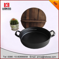 non-stick cast iron fry pan used for egg,cake,steak