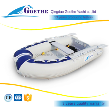 1.2mm PVC inflatable Fishing Boat with air mat