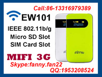 Portable WIFI 3g router with sim card slot support 850/900/1800/1900 MHz GSM/GPRS/EDGE