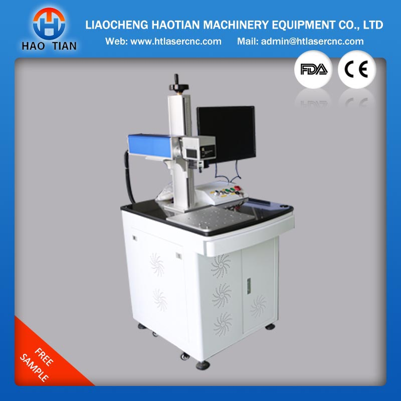 aluminum laser fiber marking machine 10w 20w 30w for both metal liaocheng haotian ,manufacture