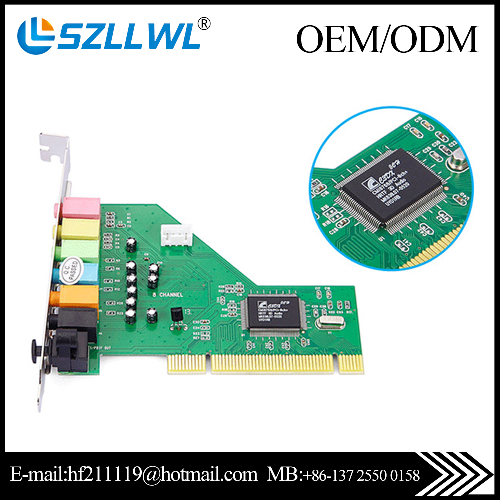 New arrival ESS 7.1 channel CMI8738 PCI sound card