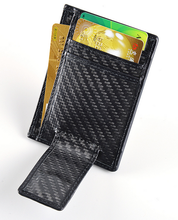 Durable carbon fiber card holder with magnet money clip