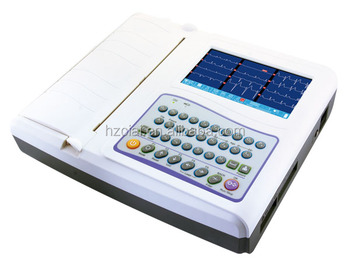 new digital portable 12 channel Electrocardiograph/ECG machine with 7 inch LCD dislay