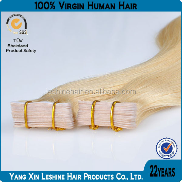 first selling alibaba virgin human remy cheap 2.2g wholesale clear band tape hair extensions