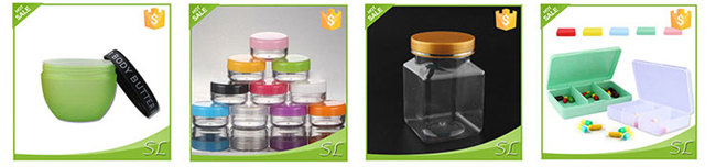 Portable Bag packing 6 pieces PET clear plastic jars and bottles for cosmetics