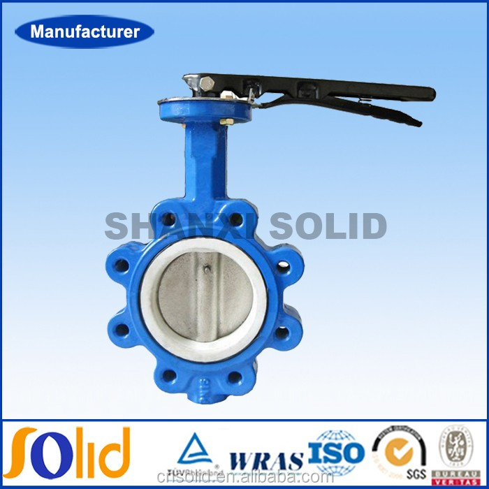 Cast Iron Lug Type Flanged PTFE Lined Butterfly Valve