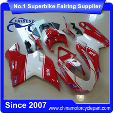 FFKDU004 Motorcycle ABS Fairing Kit For 848 1098 1198 2007-2012 Red And White Air