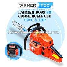 "45CC / 52CC / 58CC / 62CC 4.1HP PETROL CHAINSAW WITH 20"" BAR BLADE OREGON SAW CHAIN WALBRO CARBURETOR BOSCH SPARK PLUG"