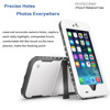Waterproof Case for Iphone 6 Shockproof PVC Touch ID Protective Plastic Mobile phone Case Cover 4.7 inch White