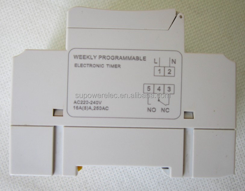 AHC15A THC15A 220V 110V 24V 16A 30A LCD display Daily or weekly programmable Digital Timer Switch