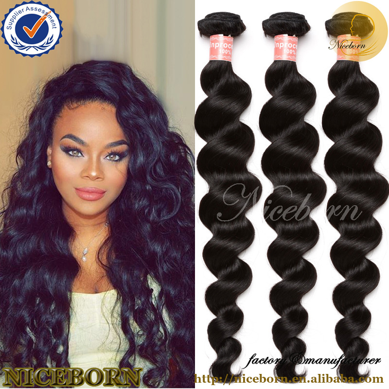 Grade 6A Original Virgin Remy Peruvian Human Hair Extension Loose Wave Hair Weft, Raw Peruvian Hair Directly From Peru