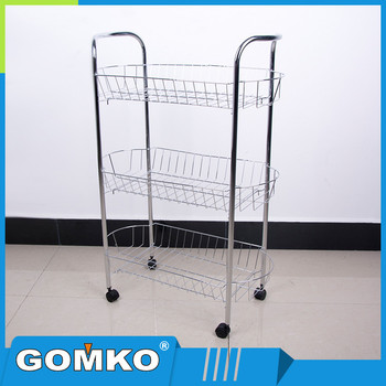 Hot Sale Movable Home Use Knock Down Style Kitchen Rack