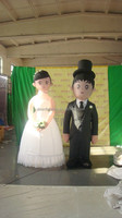 customized new design inflatable bride and groom for wedding
