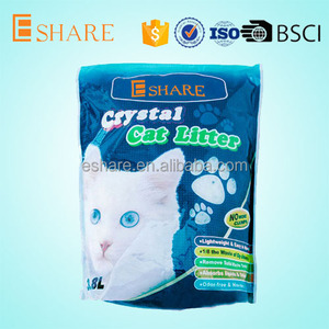 China pet supplies clumping silicone cat litter
