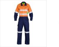 Custom Cotton/Nylon Hi Vis Safety Coverall Workwear For Men