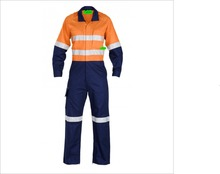 Custom Cotton/Nylon Hi Vis Safety Coverall Workwear For Men