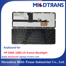 Factory Wholesale price laptop notebook keyboard For HP DM4-1000 US frame+backlight