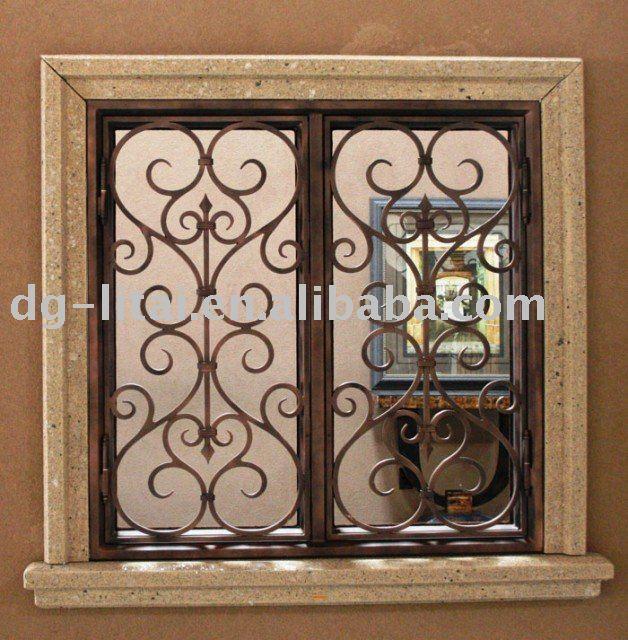 Única de hierro forjado ventanas de seguridad/secuity ventana-en