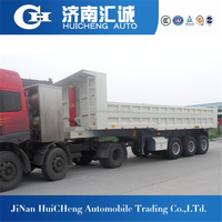2016 Top Ranking Tipper semi Trailer for Earth, Sand, Wood Chips Transport