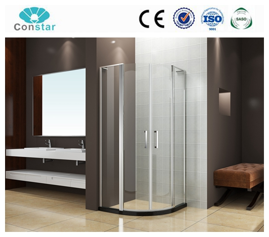 Hangzhou Constar factory None Tray Shape and None Tray Material piovt and hinge shower bath screen