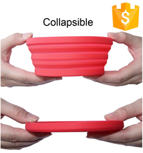 TOP High Quality Funny Design Multi-purpose Reusable Foldable Pet Food Collapsible Silicone Bowl