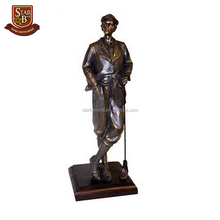 Factory custom made best home decoration resin golfer figurine