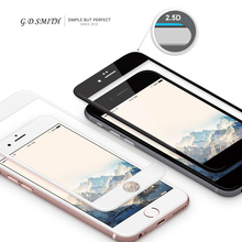 Black/White 9H HD Full Cover Explosion Proof Premium Tempered Glass Toughened Screen Protector For iPhone6/6S/7/Plus