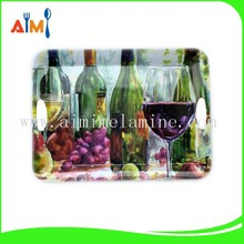 Eco-friendly fruit design rectangle melamine ware tray