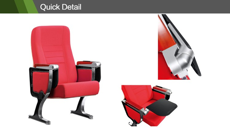 Aluminum alloy auditorium chair lecture chair with tablet AWL-01