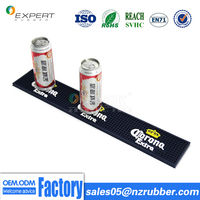 Anti Slip Personalized Custom Rubber Counter Bar Mat